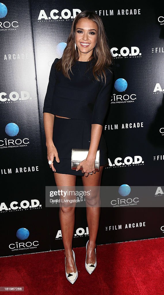 Actress Jessica Alba attends the premiere of the Film Arcade's 'A.C.O.D.' at the Landmark Theater on September 26, 2013 in Los Angeles, California.
