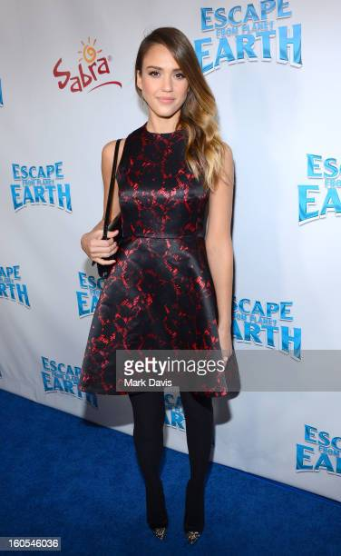 Actress Jessica Alba attends the premiere of the Weinstein Company's 'Escape From Planet Earth' held at the Mann Chinese 6 on February 2 2013 in Los...