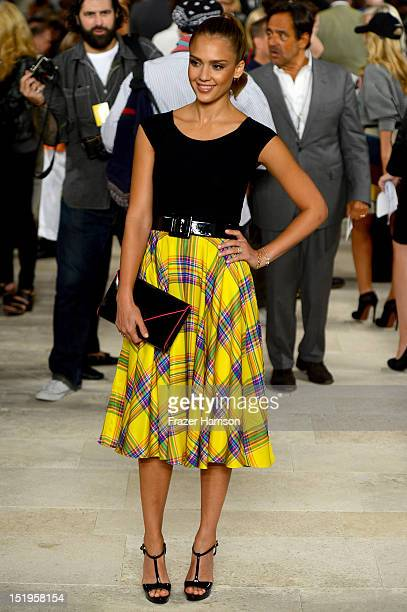 Actress Jessica Alba attends the Ralph Lauren Spring 2013 fashion show during MercedesBenz Fashion Week on September 13 2012 in New York City