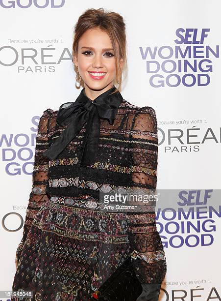 Actress Jessica Alba attends the SELF Magazine 5th Annual Women Doing Good Awards at IAC Building on September 12 2012 in New York City