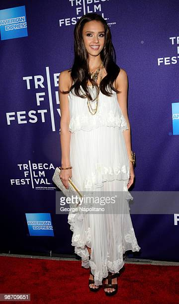 Actress Jessica Alba attends the The Killer Inside Me premiere during the 9th Annual Tribeca Film Festival at the SVA Theater on April 27 2010 in New...