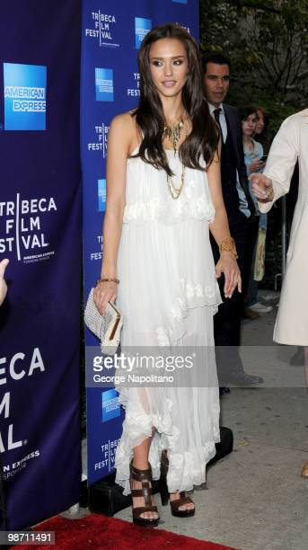 """Actress Jessica Alba attends the """"The Killer Inside Me"""" premiere during the 9th Annual Tribeca Film Festival at the SVA Theater on April 27, 2010 in..."""