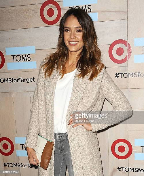 Actress Jessica Alba attends the TOMS for Target launch event at The Bookbindery on November 12, 2014 in Culver City, California.