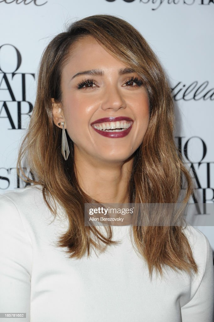 Actress Jessica Alba attends the Who What Wear and Cadillac's 50 Most Fashionable Women of 2013 event at The London Hotel on October 24, 2013 in West Hollywood, California.