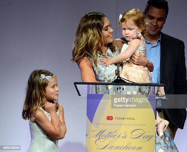 Actress Jessica Alba, Cash Warren, Honor Warren, and Haven Warren at The Helping Hand of Los Angeles Mother's Day Luncheon at The Beverly Hilton...