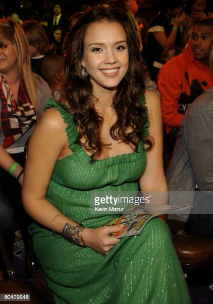 Actress Jessica Alba during Nickelodeons 2008 Kids Choice Awards held at the Pauley Pavilion on March 29 2008 in Westwood California