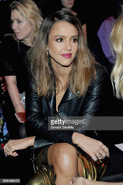 Actress Jessica Alba in Saint Laurent by Hedi Slimane attends Saint Laurent at the Palladium on February 10 2016 in Los Angeles California for the...