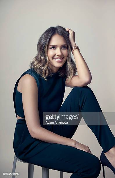 Actress Jessica Alba is photographed for Fast Company Magazine on July 14 2015 in Los Angeles California PUBLISHED IMAGE
