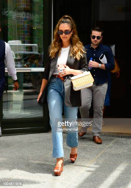 Actress Jessica Alba is seen walking in soho on July 24 2018 in New York City