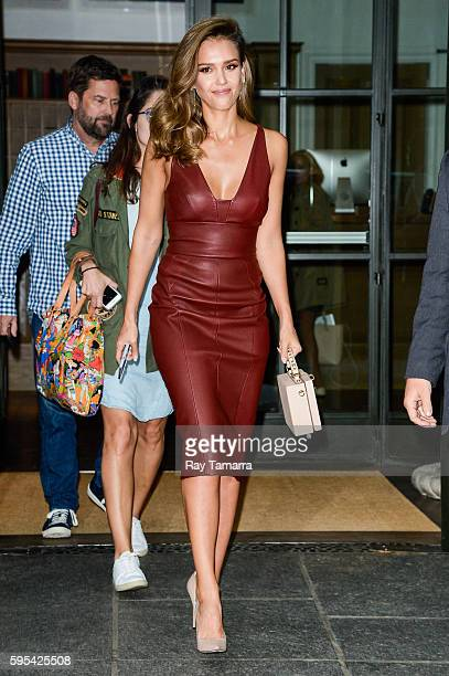 Actress Jessica Alba leaves her Soho hotel on August 25 2016 in New York City