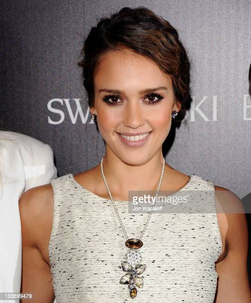 Actress Jessica Alba poses at Swarovski Elements And Rodeo Drive Lighting Ceremony With Jessica Alba Swarovski Elements And Rodeo Drive Lighting...
