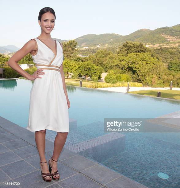 Actress Jessica Alba poses for a portrait session at the 2012 Giffoni Film Festival on July 14 2012 in Giffoni Valle Piana Italy