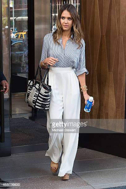 Actress Jessica Alba seen on the streets of Manhattan on August 5 2014 in New York City