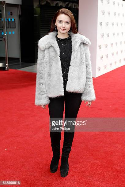 Actress Jessica Barden attends the 'Mindhorn' World Premiere screening during the 60th BFI London Film Festival at Odeon Leicester Square on October...