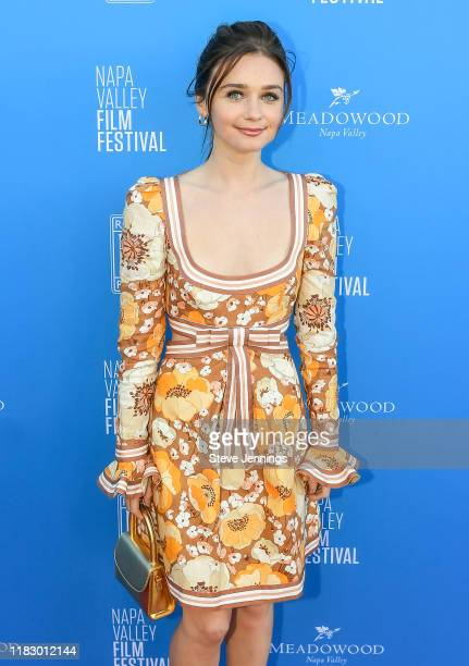 Actress Jessica Barden attends the Rising Star Showcase at the Napa Valley Film Festival at Materra Cunat Family Vineyards on November 16 2019 in...
