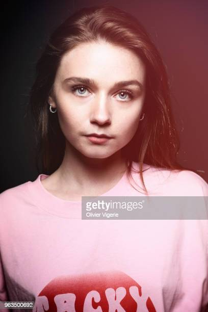 Actress Jessica Barden is photographed for Self Assignment on April 2018 in Cannes France