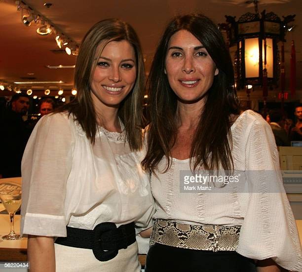 Actress Jessica Biel and designer Christina Erhlich at the Miss Davenporte Trunkshow hosted by the Olsen's and Lucky Magazine at Ron Herman November...