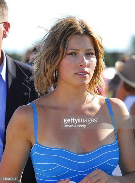 Actress Jessica Biel and The Island Villas at Molasses Reef host the MercedesBenz Polo Challenge on August 12 2006 in Bridgehampton New York