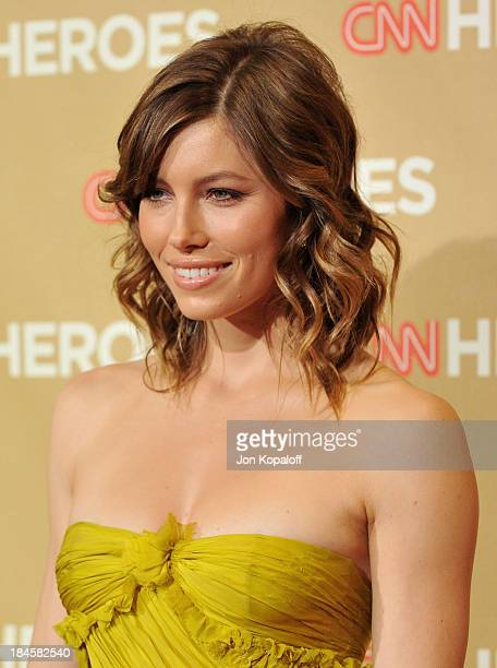 Actress Jessica Biel arrives at CNN Heroes An AllStar Tribute at the Kodak Theatre on November 22 2008 in Hollywood California