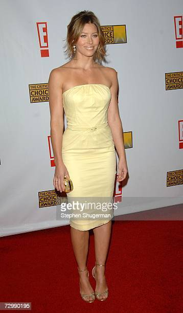 Actress Jessica Biel arrives at the 12th Annual Critics' Choice Awards held at the Santa Monica Civic Auditorium on January 12, 2007 in Santa Monica,...