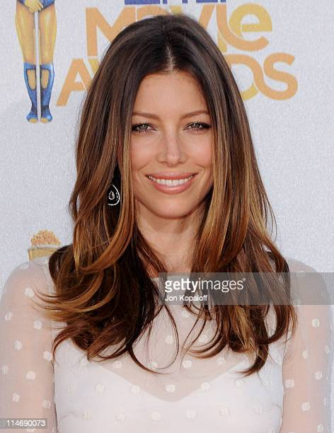 Actress Jessica Biel arrives at the 2010 MTV Movie Awards Arrivals at Gibson Amphitheatre on June 6 2010 in Universal City California