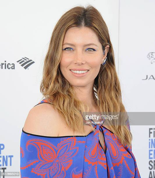 Actress Jessica Biel arrives at the 2016 Film Independent Spirit Awards on February 27 2016 in Los Angeles California