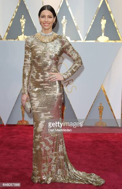 Actress Jessica Biel arrives at the 89th Annual Academy Awards at Hollywood Highland Center on February 26 2017 in Hollywood California