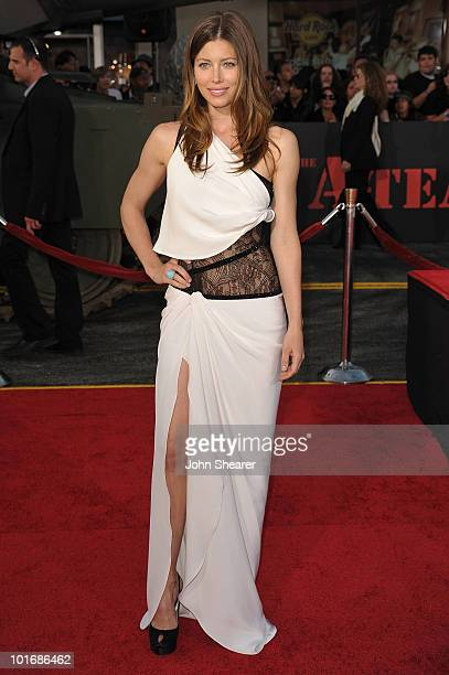 Actress Jessica Biel arrives at 'The ATeam' Los Angeles premiere held at Grauman's Chinese Theatre on June 3 2010 in Los Angeles California