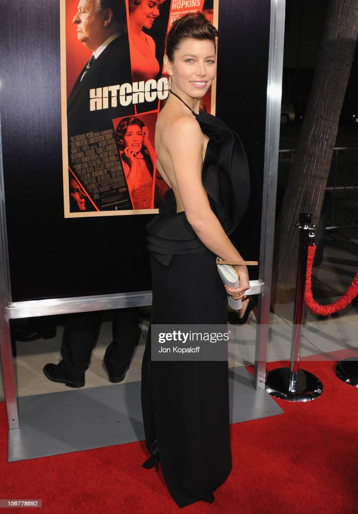 Actress Jessica Biel arrives at the Los Angeles Premiere 'Hitchcock' at AMPAS Samuel Goldwyn Theater on November 20, 2012 in Beverly Hills, California.