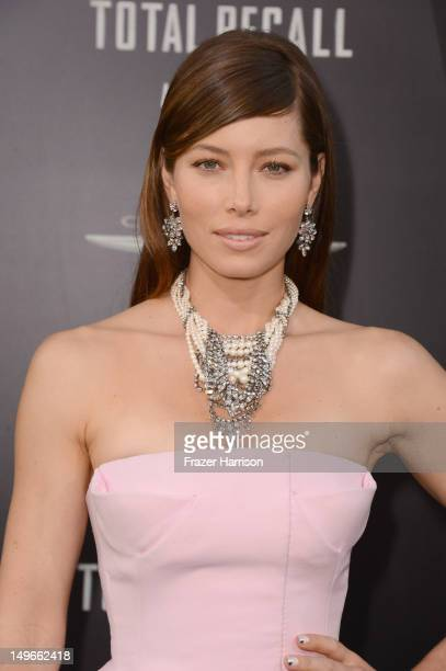 Actress Jessica Biel arrives at the premiere of Columbia Pictures' Total Recall held at Grauman's Chinese Theatre on August 1 2012 in Hollywood...