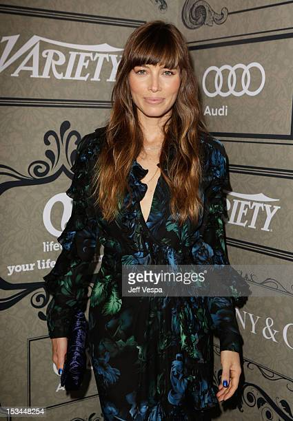Actress Jessica Biel arrives at Variety's 4th Annual Power of Women Event Presented by Lifetime at the Beverly Wilshire Four Seasons Hotel on October...