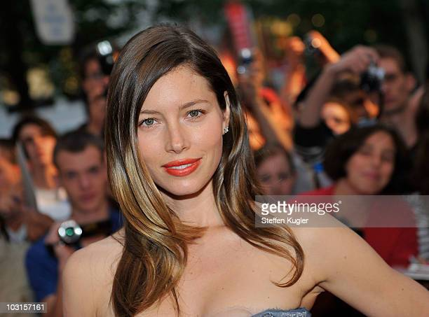 Actress Jessica Biel arrives for the Germany Preview of 'The ATeam on July 29 2010 in Berlin Germany