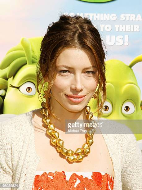 Actress Jessica Biel arrives to the Los Angeles premiere of Planet 51 held at the Mann Village Theatre on November 14 2009 in Westwood California