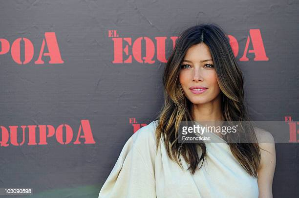 Actress Jessica Biel attends a photocall for 'El Equipo A' at the ME Hotel on July 26, 2010 in Madrid, Spain.