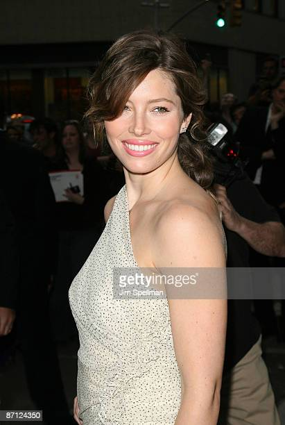 Actress Jessica Biel attends a screening of Easy Virtue hosted by The Cinema Society and The Wall Street Journal with JaegerLecoultre and Brooks...