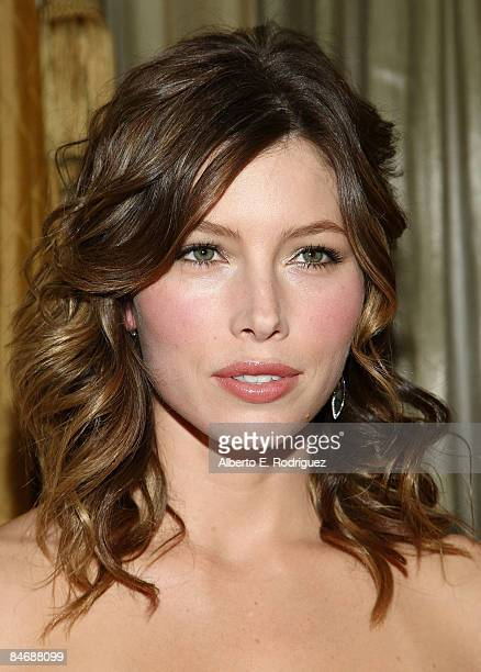 Actress Jessica Biel attends AMPAS' Scientific and Technical Awards Dinner at the Beverly Wilshire Hotel on February 7 2009 in Beverly Hills...