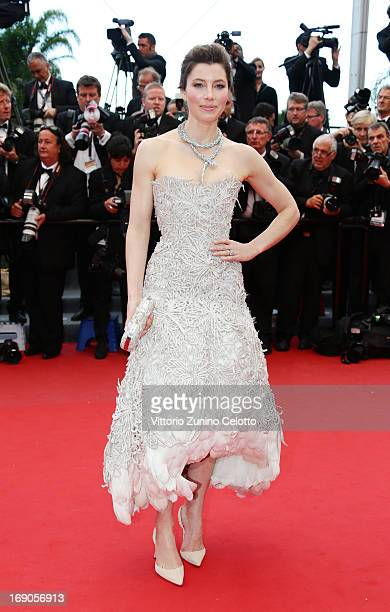 Actress Jessica Biel attends 'Inside Llewyn Davis' Premiere during the 66th Annual Cannes Film Festival at Palais des Festivals on May 19 2013 in...