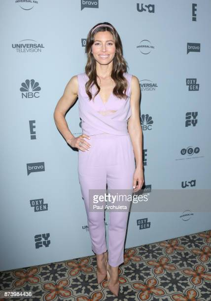 Actress Jessica Biel attends NBCUniversal's press junket at Beauty Essex on November 13 2017 in Los Angeles California