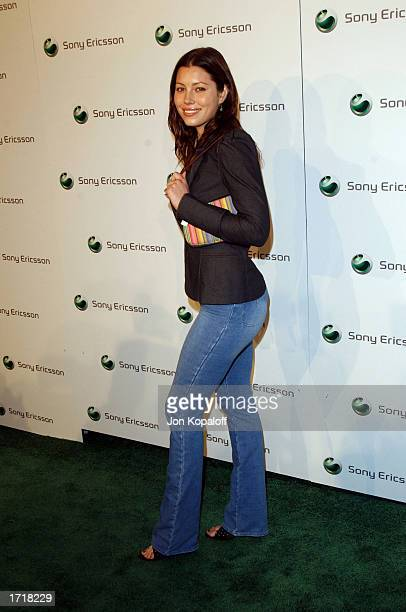 Actress Jessica Biel attends 'Sony Ericsson's Hollywood Premiere Party 2003' at The Palace on January 9 2003 in Hollywood California