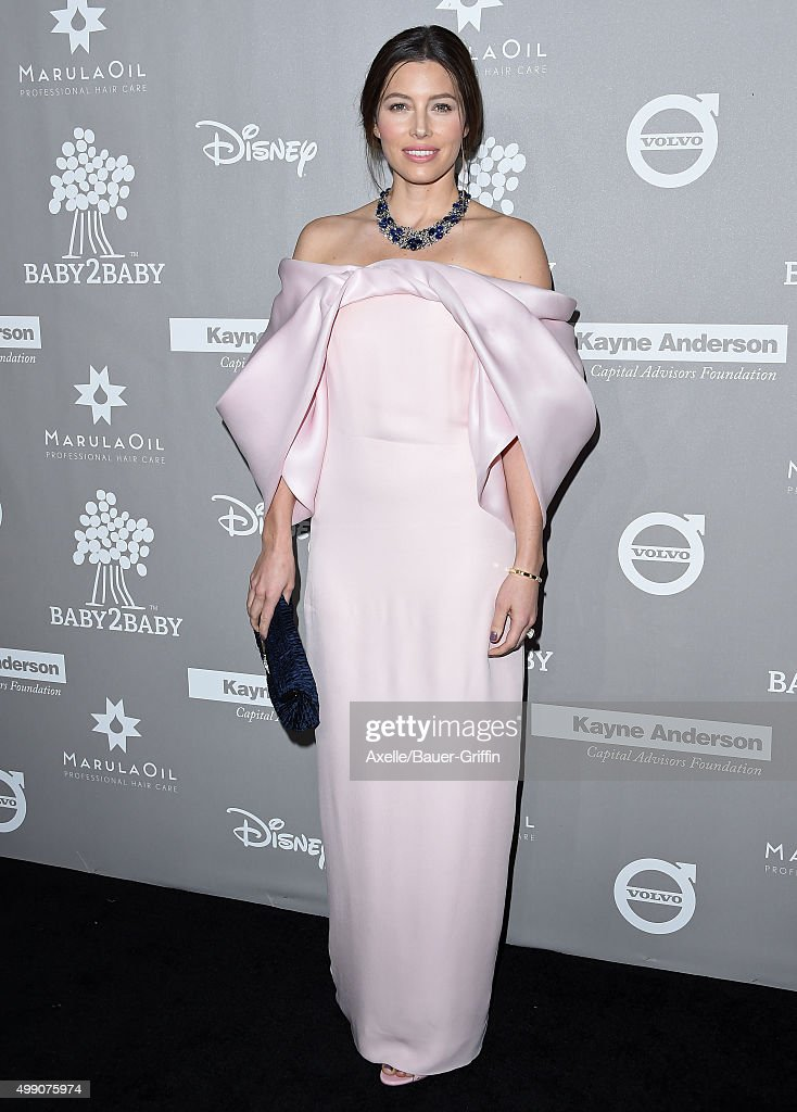 Actress Jessica Biel attends the 2015 Baby2Baby Gala at 3LABS on November 14, 2015 in Culver City, California.