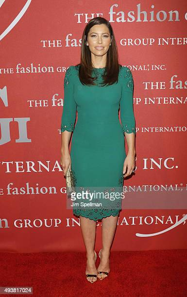 Actress Jessica Biel attends the 2015 Fashion Group International's Night of Stars at Cipriani Wall Street on October 22 2015 in New York City