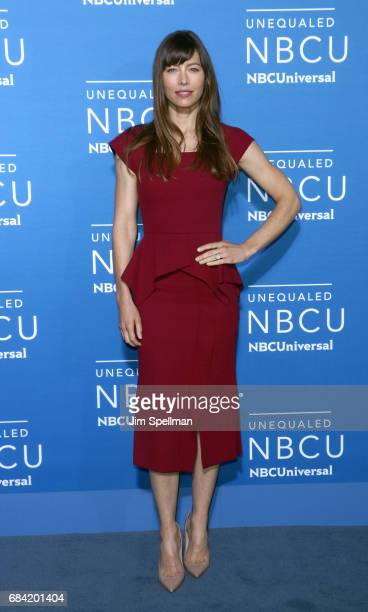 Actress Jessica Biel attends the 2017 NBCUniversal upfront at Radio City Music Hall on May 15 2017 in New York City