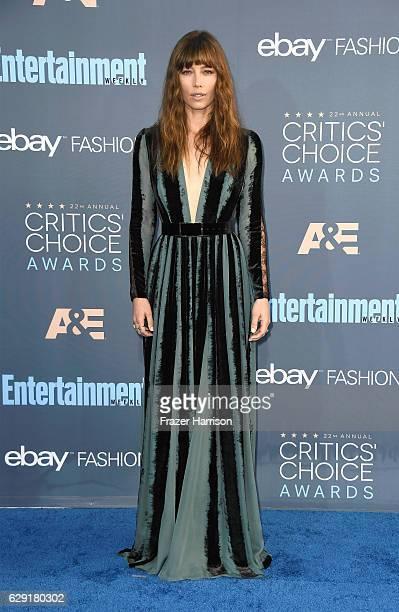 Actress Jessica Biel attends The 22nd Annual Critics' Choice Awards at Barker Hangar on December 11 2016 in Santa Monica California