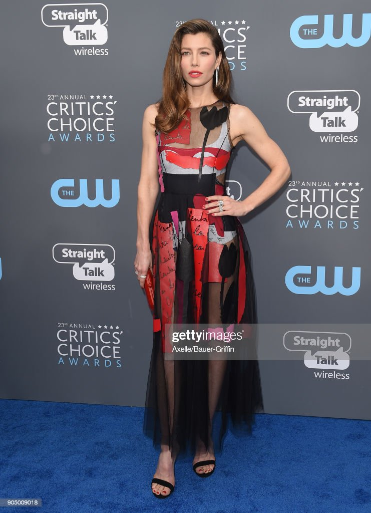 Actress Jessica Biel attends the 23rd Annual Critics' Choice Awards at Barker Hangar on January 11, 2018 in Santa Monica, California.