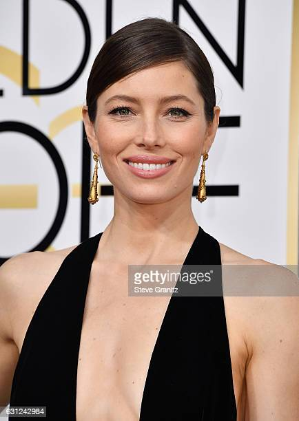 Actress Jessica Biel attends the 74th Annual Golden Globe Awards at The Beverly Hilton Hotel on January 8, 2017 in Beverly Hills, California.