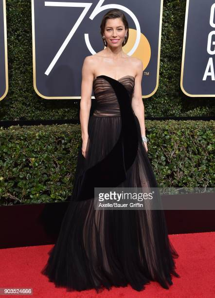 Actress Jessica Biel attends the 75th Annual Golden Globe Awards at The Beverly Hilton Hotel on January 7, 2018 in Beverly Hills, California.