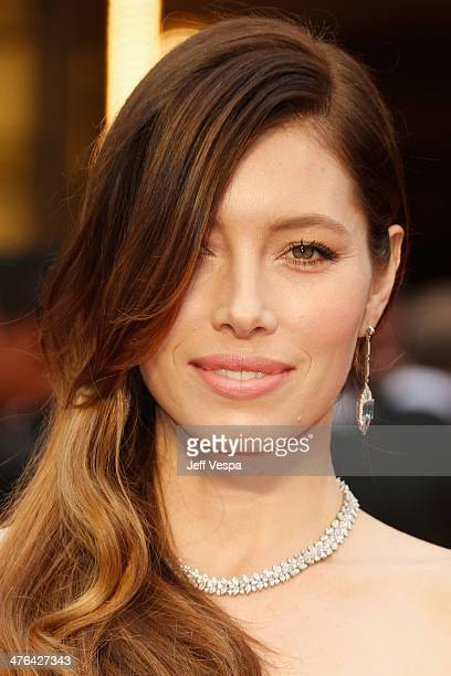 Actress Jessica Biel attends the 86th Oscars held at Hollywood Highland Center on March 2 2014 in Hollywood California