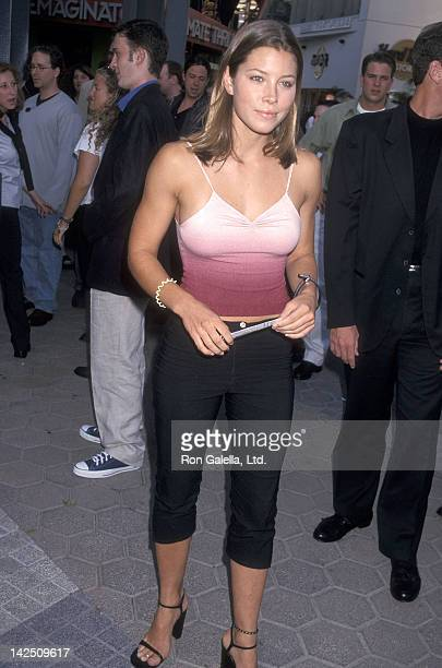 Actress Jessica Biel attends the 'American Pie' Universal City Premiere on July 7 1999 at Cineplex Odeon Universal City Cinemas in Universal City...
