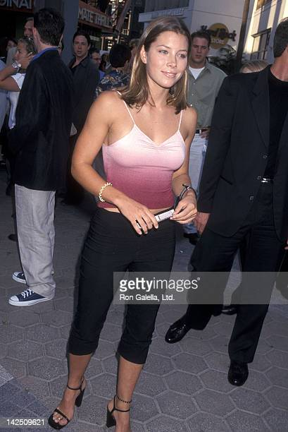 Actress Jessica Biel attends the American Pie Universal City Premiere on July 7 1999 at Cineplex Odeon Universal City Cinemas in Universal City...