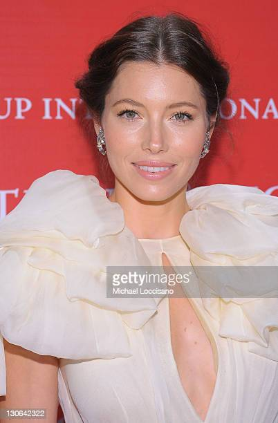 Actress Jessica Biel attends the Fashion Group International's 28th annual Night of Stars at Cipriani Wall Street on October 27 2011 in New York City